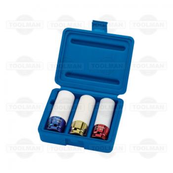Draper Expert 3 Pce Hi-Torq® Wheel Nut Socket Set