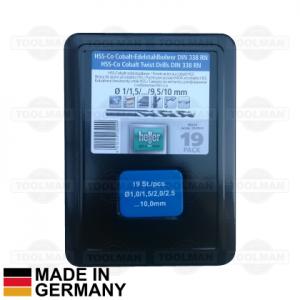 Heller 19pce HSS-Co Drill Bit Set_germany