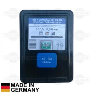 Heller 19pce HSS-R Drill Bit Set_germany