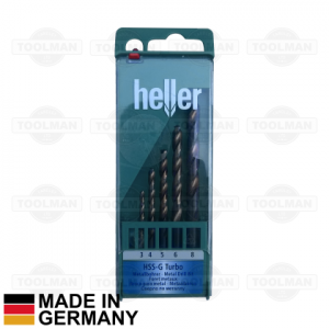 Heller 5pce HSS-G Turbo Drill Bit Set_germany