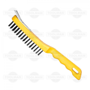 Hilka 5 Row Wire Brush - With Scraper