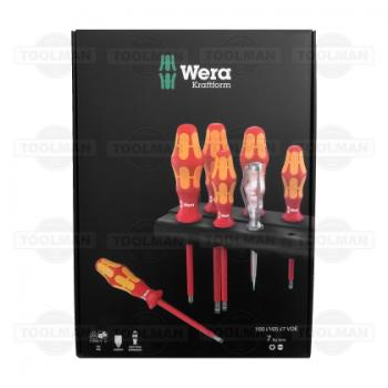 Wera 7 Pce VDE Kraftform Plus PH & Flat Head Screwdriver Set