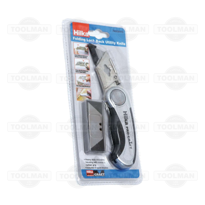 Hilka ProCraft Push Button Lock Back Knife